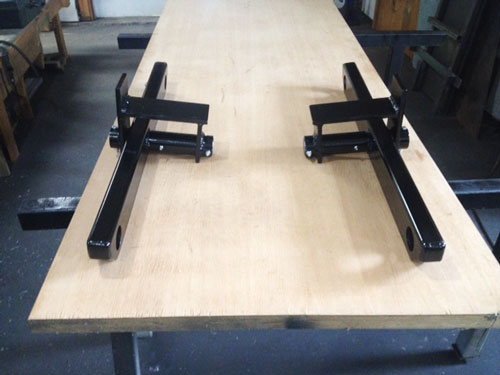 Walking Beam Assembly with HSS with closed, beveled ends