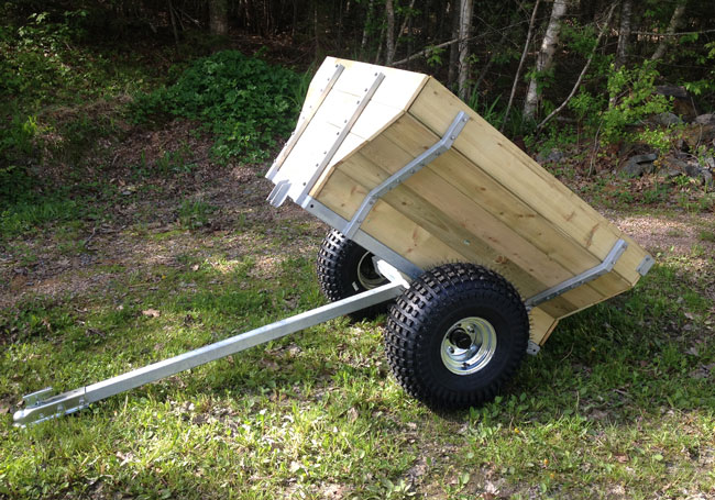 ATV Woods Trailer, galvanized single axle