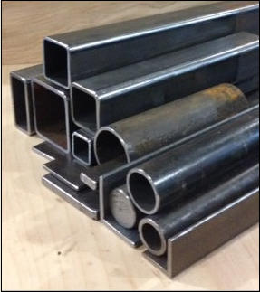 Steel square tubes, pipes, flat bar, angle