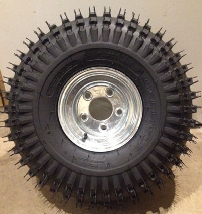 Wheel (tire and rim) for trailer
